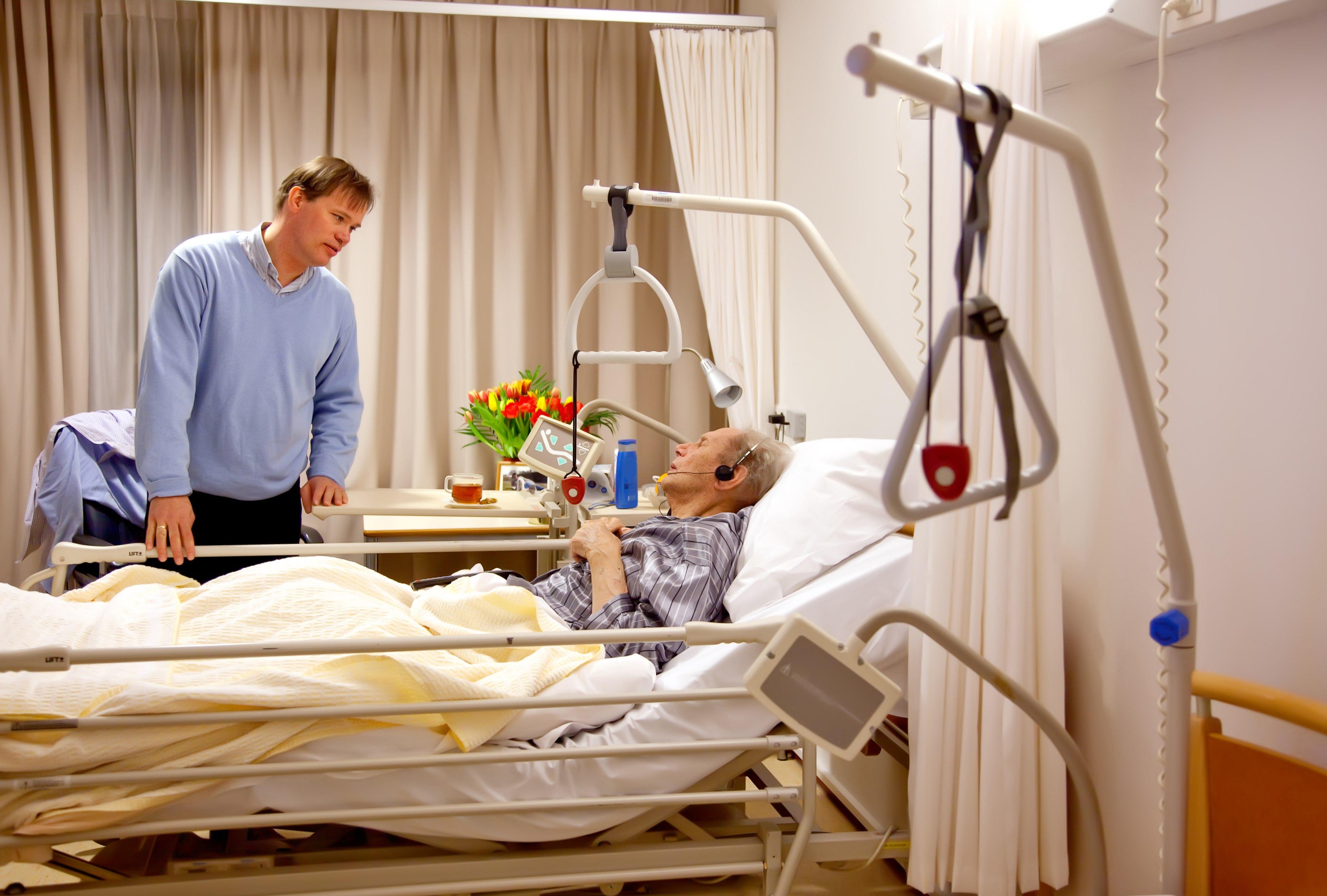 łóżko dla obłożnie chorego